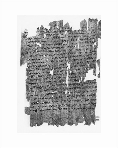 Papyrus Roll with Epistle to the Hebrews by Corbis