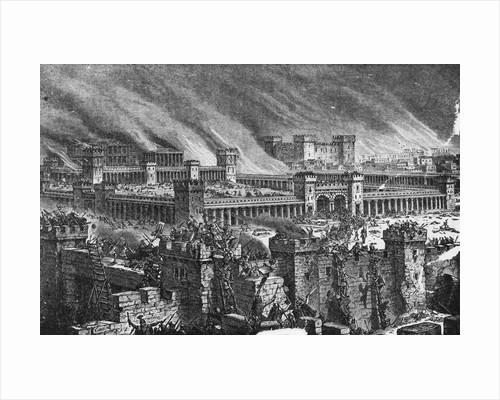 Destruction of Jerusalem - Illustration by Corbis