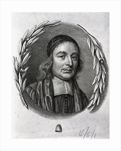 Engraving of Mathematician John Wallis by Corbis