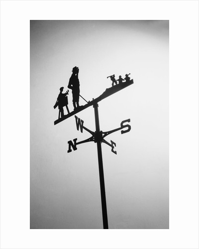Golfer And Caddy Weather Vane by Corbis