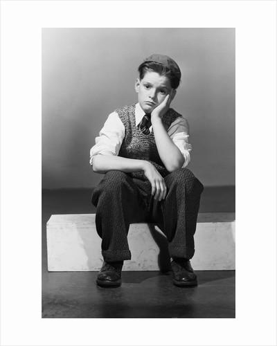 Boy in Dejected Pose by Corbis