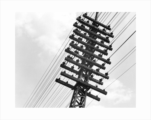 Long Island Railroad Communication Lines by Corbis