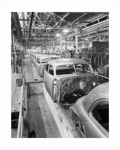 Empty Assembly Line at Auto Body Plant by Corbis
