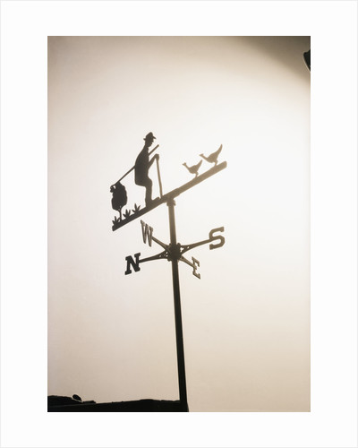 Weather Vane with Old Man and Cane by Corbis