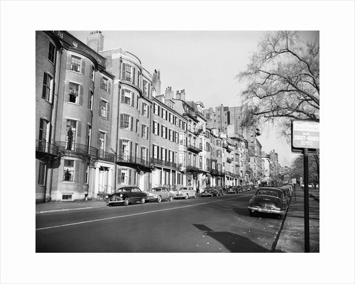 Homes on Beacon Street by Corbis
