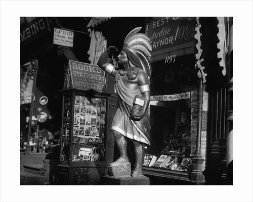 Wooden Native American Cigar Shop Statue by Corbis