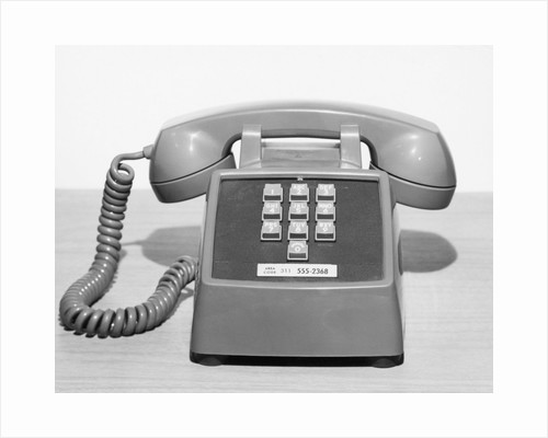 Picture Of A Standard Telephone by Corbis