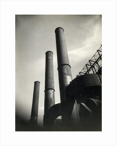 Smoke Stacks of Factory by Corbis