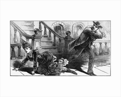 A Mysterious Crime Illustration from Engraving by Corbis