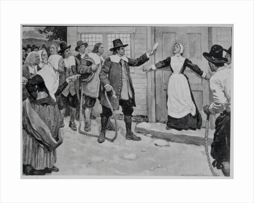 Illustration of a Woman Accused of Witchcraft by Corbis