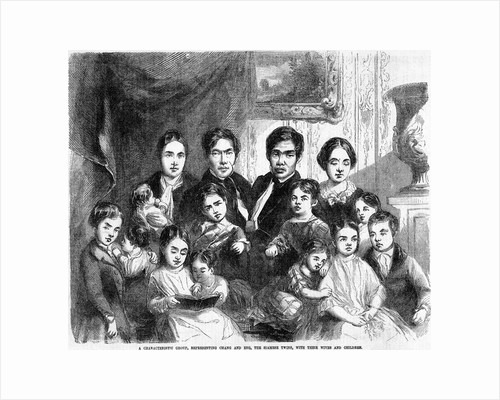 Chang and Eng With Their Families by Corbis