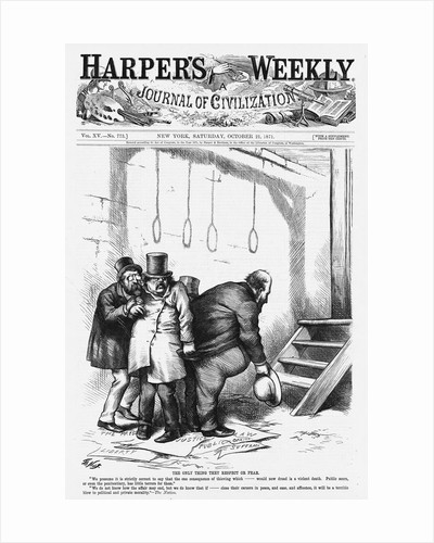 The Only Thing They Respect or Fear Political Cartoon by Thomas Nast