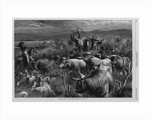 Cattle Raid on the Texas Border by Corbis