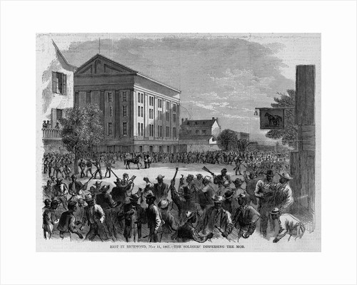 Riot in Richmond, May 11, 1867 - the soldiers despersing the mob by Corbis