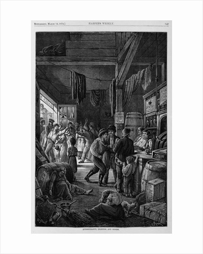 Intemperance, Idleness, and Misery by Corbis