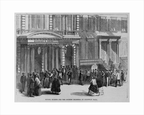 Buying tickets for the Dickens readings at Steinway Hall by Corbis