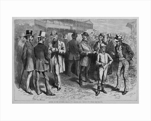 Betting on the favorite by W. L. Sheppard, from a sketch by W. B. Myers by Corbis
