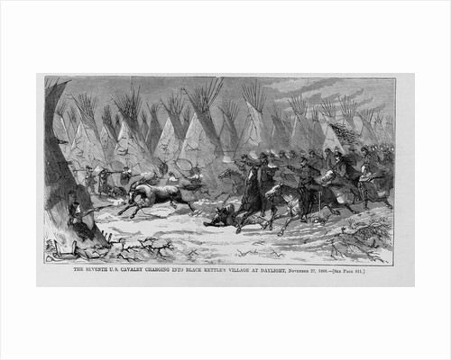 The Seventh U.S. Cavalry charging into black kettle's village at daylight, November 27, 1868 by Corbis