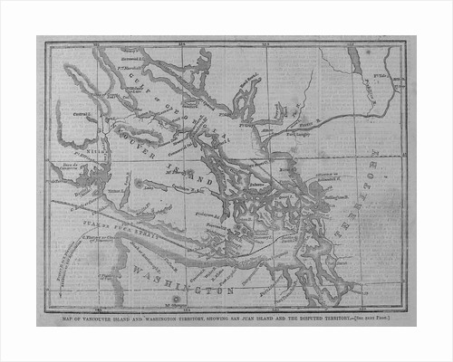 Map of Vancouver Island and Washington Territory, Showing San Juan Island and the Disputed Territory by Corbis