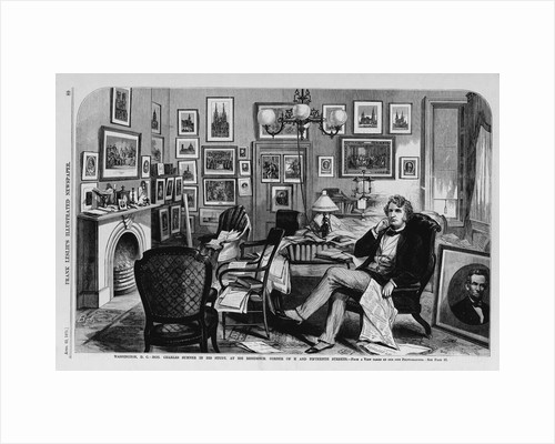Washington, D. C.-Hon. Charles Sumner in his Study, at his residence, Corner of H and Fifteenth Streets by Corbis