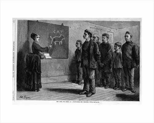 New York City - Scene at a night school - the perplexed pupils by Corbis