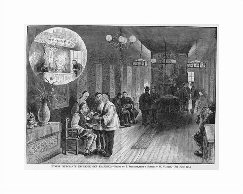 Chinese merchants' exchange, San Francisco by P. Frenzeny, from a sketch by W. W. Bode by Corbis