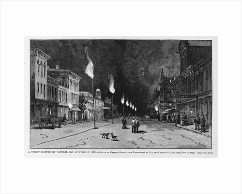 The street lighted by natural gas at Findlay, Ohio by Corbis