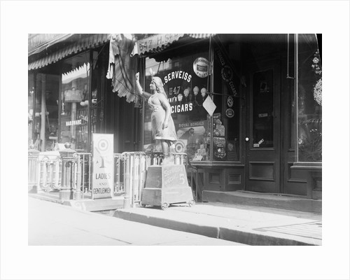 Cigar Store Indian Outside Shop by Corbis