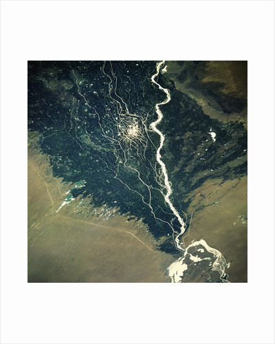 River and Cotton Fields Seen From Space by Corbis