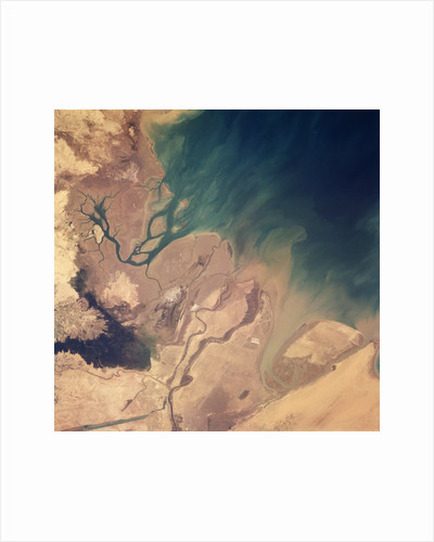 Persian Gulf Seen From Space by Corbis