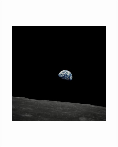 Earthrise and Lunar Horizon from Apollo 8 by Corbis