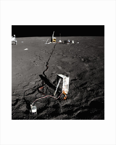 Scientific Equipment on the Surface of the Moon by Corbis