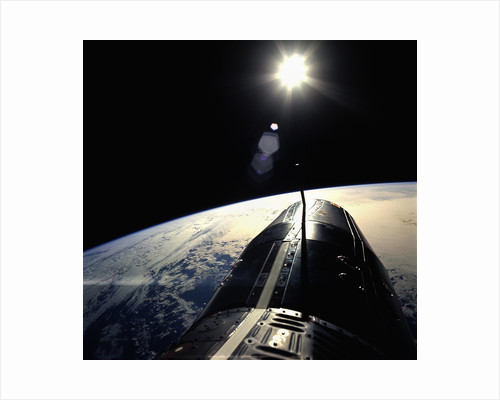 Gemini Spacecraft Orbiting the Earth by Corbis