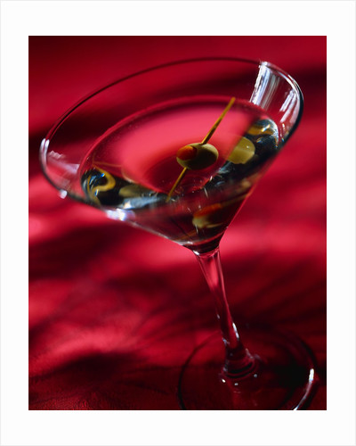 Martini with Olive by Corbis