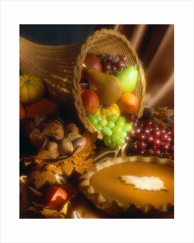 Basket of Fruit and Pumpkin Pie by Corbis