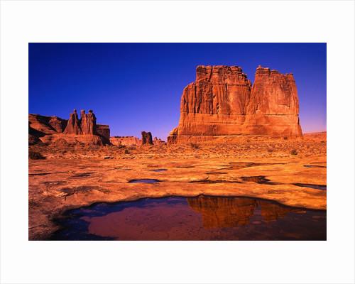 Desert Lake Bed by Corbis