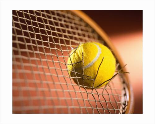 Tennis Racket Broken by Tennis Ball by Corbis