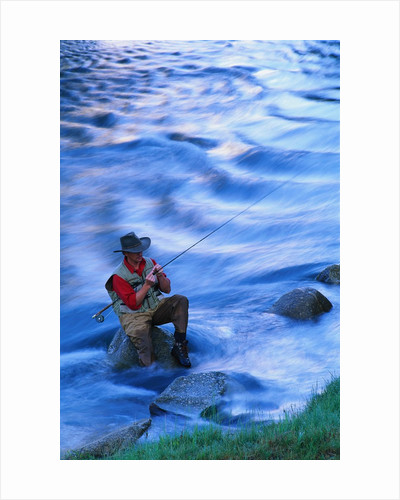 Fly Fishing on the Snake River by Corbis