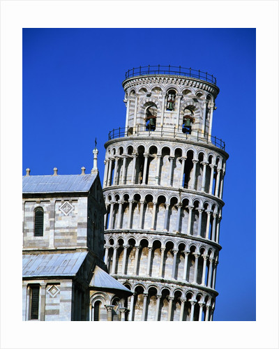 Exterior of the Leaning Tower of Pisa by Corbis