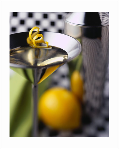 Martini Glass with Lemon Rind by Corbis