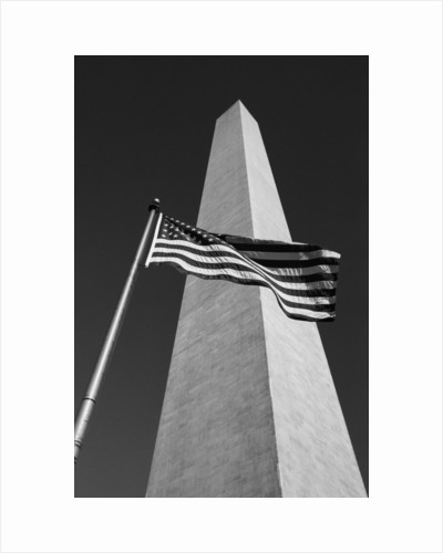 American Flags at Washington Monument by Corbis