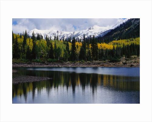 Autumn Trees on Mountain Lake by Corbis