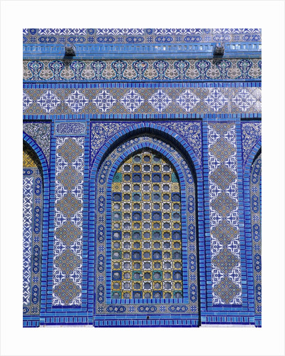 Exterior View of Window and Tilework on Dome of the Rock by Corbis