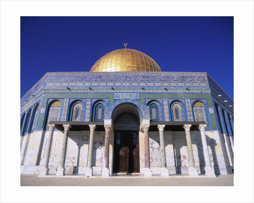 Exterior and Front View of Dome of the Rock by Corbis