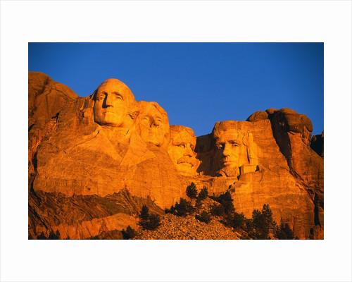 Mount Rushmore Memorial at Sunset by Corbis