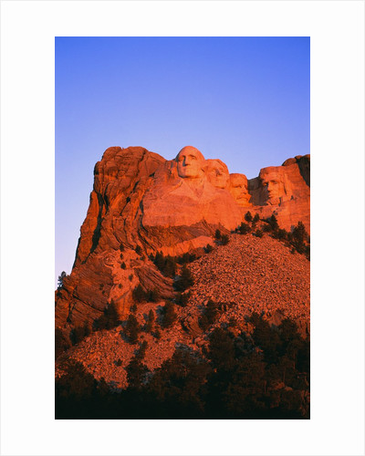 Mount Rushmore Memorial at Dusk by Corbis