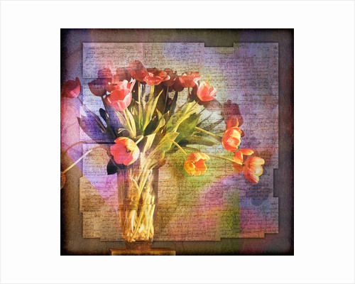 Vase of Tulips and Text by Corbis