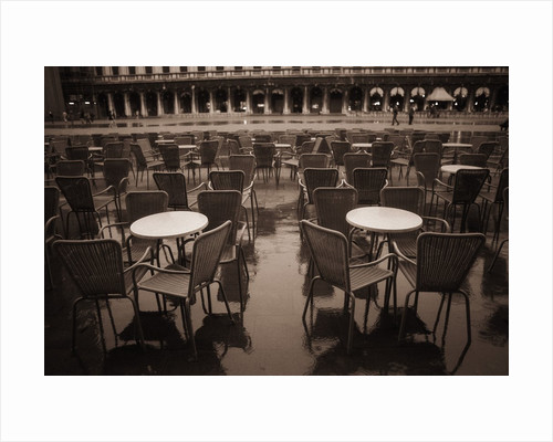 Empty Tables in Piazza San Marco by Corbis