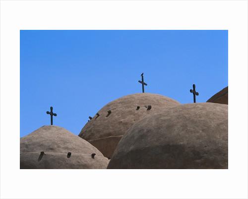 Crosses at Coptic Monastery by Corbis