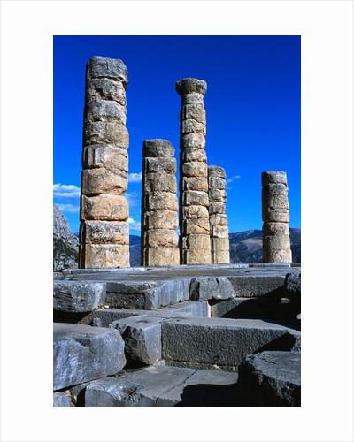 Columns of Temple of Apollo by Corbis